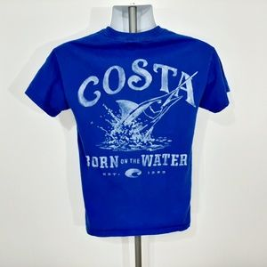 Costa Young Men's T-shirt Size Small Blue SQ24